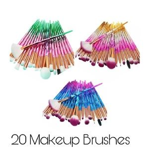 Ombre 20 Piece Makeup Brushes